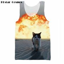 4aac8a8931847 PLstar Cosmos Summer Cat Explosion 3d printing Men Women Hipster Vest funny  Tank Tops