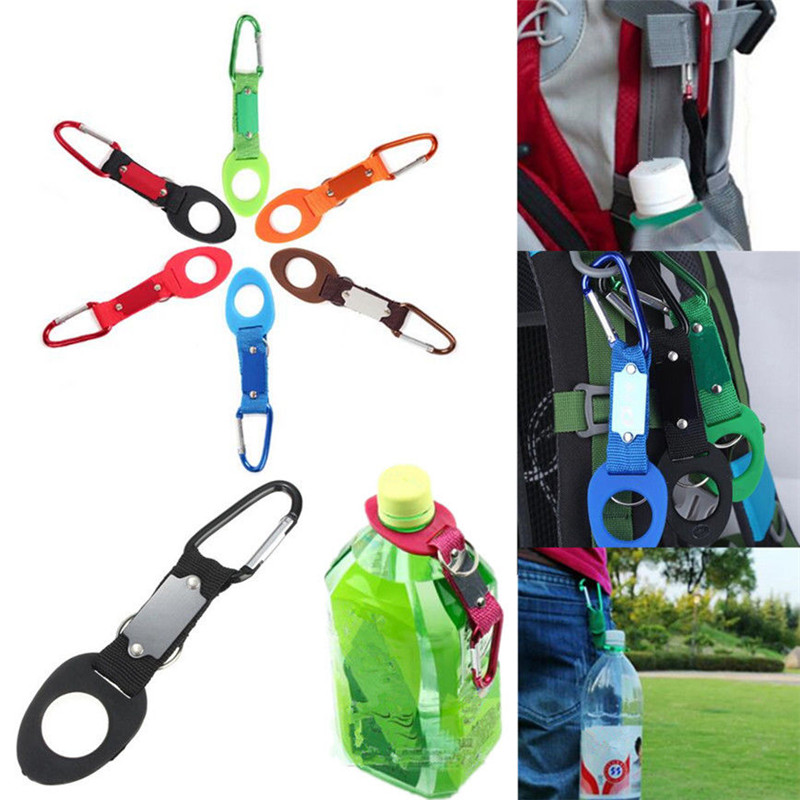 Water Bottles Hang Buckle Hot Sale New Buckle Rubber Buckle Hook Water Bottle Holder Clip Buckle Travel Accessories