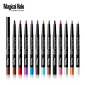12 colors Top grade makeup eyeshadow pen Waterproof Eyeshadow Eye Liner Lip Eyeliner Pencil Gel Shimmer Glitter Shining easy use