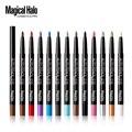 12 cores Top grade caneta Sombra À Prova D' Água da sombra de maquiagem Eye Liner Lip Pencil Eyeliner Gel Shimmer Glitter Brilhante fácil de usar