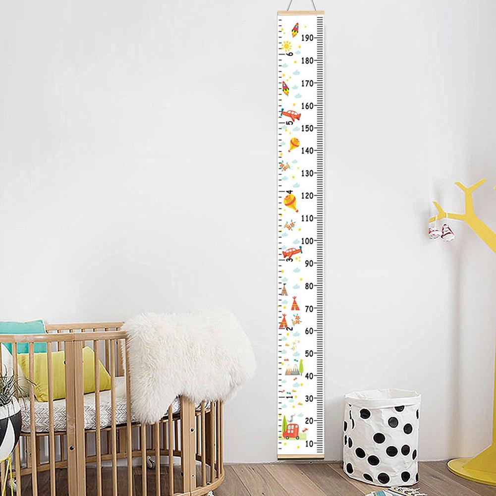 HOT SALE! Nordic Children Height Ruler Hanging Canvas Growth Chart Kids Room Wall Decoration