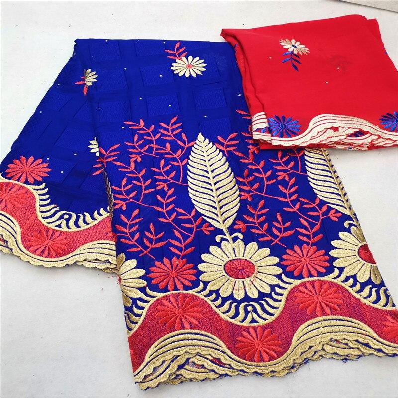 5 + 2 tela de encaje suizo 2019 bordado de cuentas pesadas telas de encaje africano 100% tela de algodón gasa Suiza encaje en suiza HL76-in Tela from Hogar y Mascotas    1