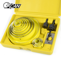 XCAN 16pcs 19 127mm Hole Saw Set for Wood Metal Drilling Hole Saw Cutting Kit Core Drill Bits Woodworking Tools