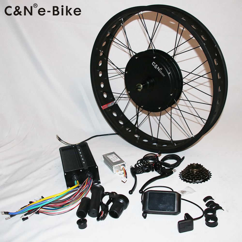 2019 Leili New 72V 3000W fat electric bike conversion kit with colorful display