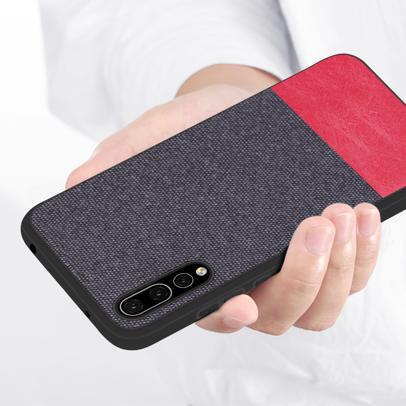 For Huawei P30 Pro Case Soft Silicon Edge Luxury Cloth Case For Huawei P20 Pro Lite P30 P10 Plus Fabric Textile Cotton Case in Fitted Cases from Cellphones Telecommunications