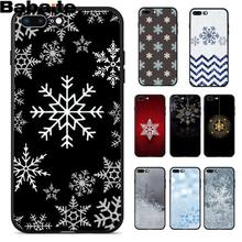 Babaite Beautiful snowflake Black TPU Soft Rubber Phone Cover for iPhone 8 7 6 6S Plus 5 5S SE XR X XS MAX Coque Shell(China)