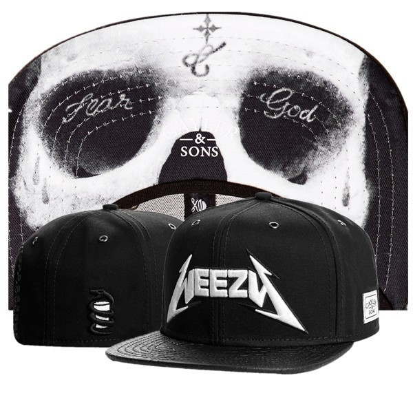 Cayler   Sons Snapback hats WEEZY fear god black white hiphop men women  brand new baseball hats Freeshipping ! 774f5d26877