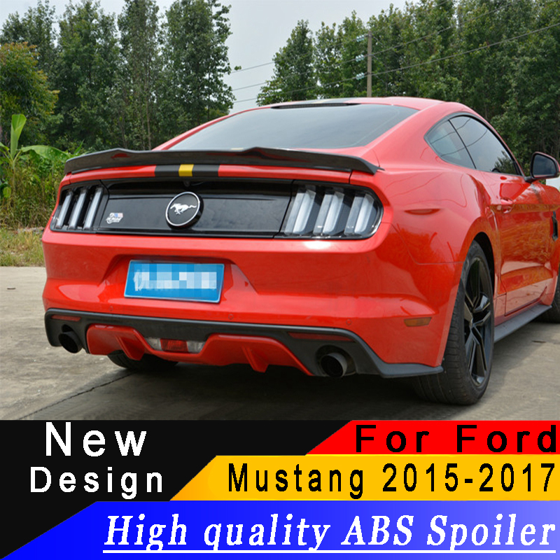 For Ford Mustang 2015 2016 2017 High quality ABS spoiler black or white or prime car rear spoiler for Ford MustangFor Ford Mustang 2015 2016 2017 High quality ABS spoiler black or white or prime car rear spoiler for Ford Mustang