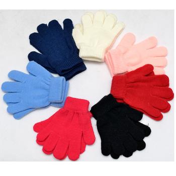 Zimowe ciepłe dziecięce rękawiczki Solid Stretch 2-6T dziecięce rękawiczki rękawiczki dziecięce dla dziewczynek chłopcy Fitness dziecięce rękawiczki białe rękawiczki tanie i dobre opinie Stałe Nadgarstek Moda Unisex Akrylowe spandex JDG01