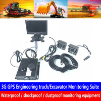 Cartão SD dupla mista em HD sistema de monitoramento de host Suporta 3 docking one-button alarme G GPS Monitoramento de Escavadeira suíte de PAL/NTSC