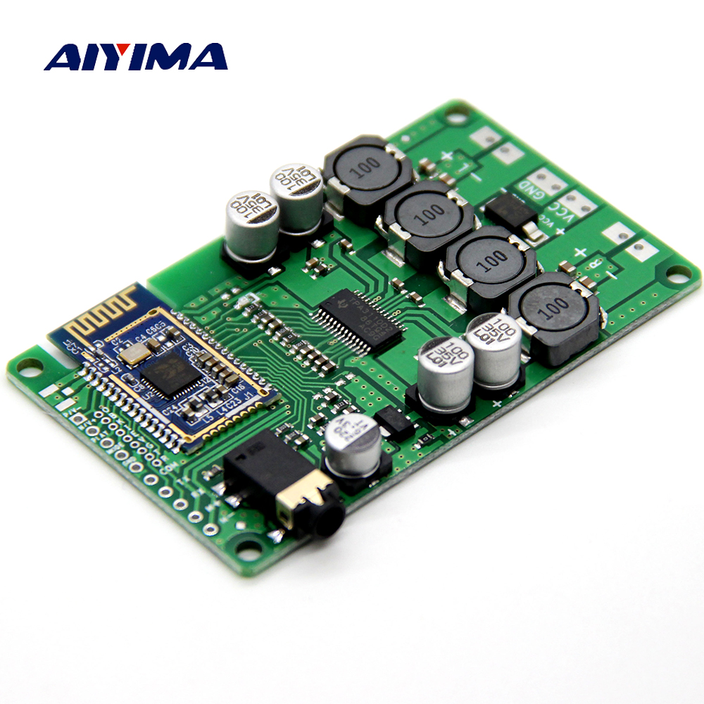 AIYIMA 2x15W Bluetooth Audio Amplifier Board Wireless Bluetooth 5.0 Amplificador AUX Support Serial Command Change Name Password