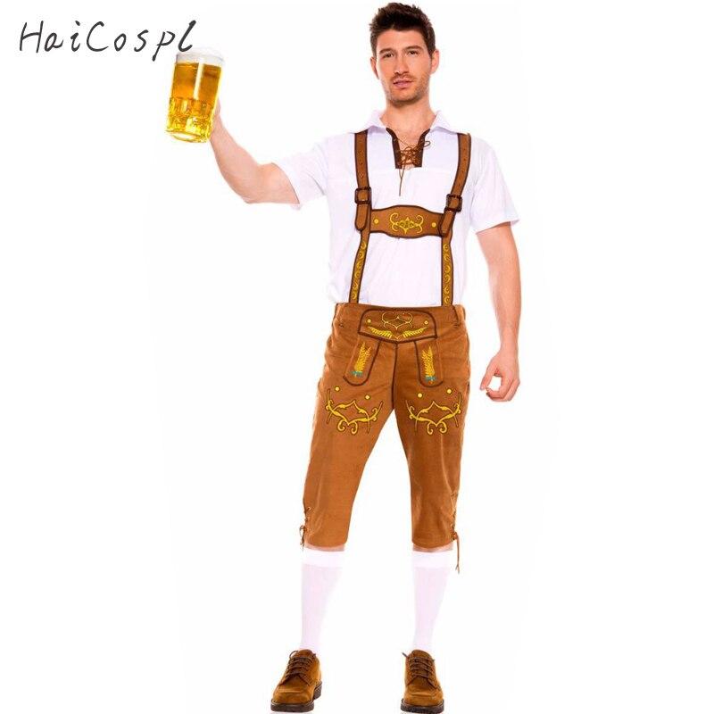 Uomo Costumi Oktoberfest Bavarese della Birra Octoberfest Partito Lederhosen e Top Uomini Adulti Plus Size Buona Qualità