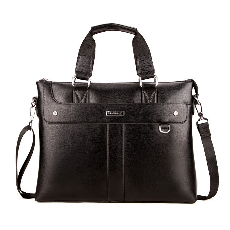 2018 New Men Casual Briefcase Business Shoulder Bag PU Leather Messenger Bags Computer Laptop Handbag Bag Mens Travel Bags Big ...