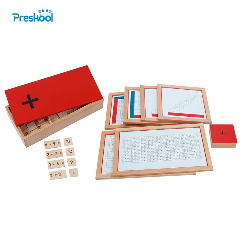 Montessori Kids Toy Baby Wood Addition Working Charts Equations Sums Box Education Preschool Training Brinquedos Juguets