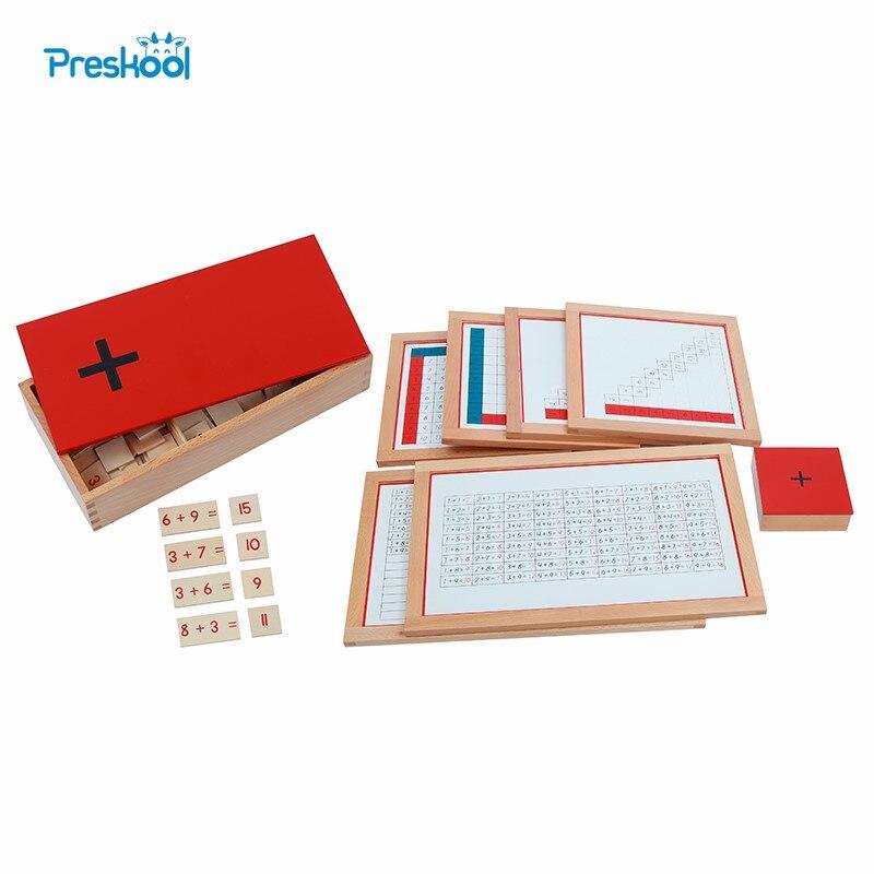 Montessori enfants jouet bébé bois Addition travail graphiques équations sommes boîte éducation préscolaire formation Brinquedos Juguets