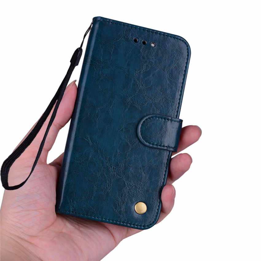 Business Leather Wallet Flip Case For Huawei P8 P9 lite 2017 Leather Case For Honor 8 lite Wallet Cover Stand Fitted Phone Case