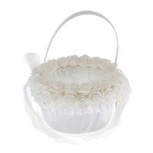 Элегантная кружевная Цветочная корзина для помолвки Свадебная церемония, Вечеринка Цветочная корзина для девочек свадебный аксессуар для невесты