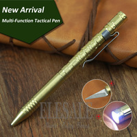 New Portable Self Defense Stainless Steel Tactical Pen With Compass Tungsten Steel Head Emergency Glass Breaker