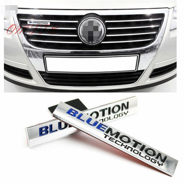 1 PC 3D Chrome Bluemotion Technologie Auto Stickers voor Volkswagen vw Scirocco Touareg Tiguan Golf Jetta Embleem Badge Auto styling