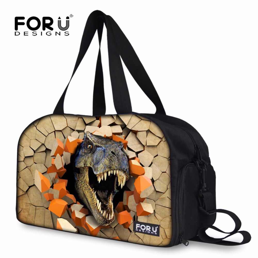 Foru Дизайн s Забавный 3D Динозавр рев Дизайн сумка спортивная мяч Сумки на плечо для Для мужчин открытый Водонепроницаемый 28l дорожная сумка для тренажерный зал