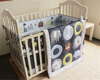 Blue Zoo Baby Crib Cot Bedding Quilt Bumper Sheet Dust Ruffle Set Of Xmas 4pcs Baby Lovely Bedding Set For Newborn Baby