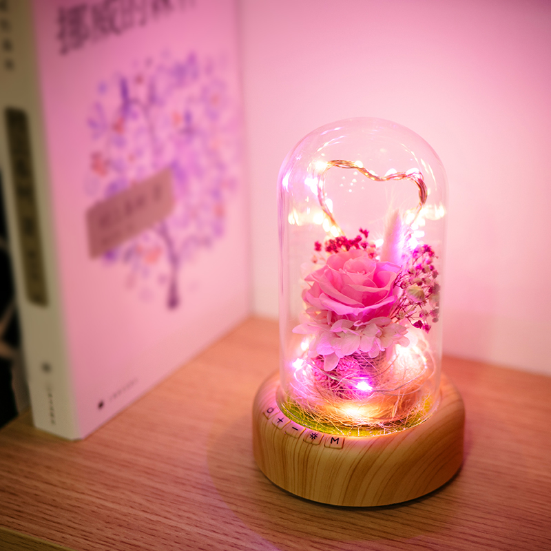 LED Night Light decorate lamp decoration dream gift bluetooth voice Speaker Ever-fresh flower creative music box rechargable usb mipow btl300 creative led light bluetooth aromatherapy flameless candle voice control lamp holiday party decoration gift
