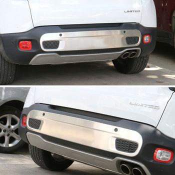Para 2015-2017 En Jeep 1,4 T Coche Parachoques Trasero De Acero Inoxidable Protección De Placa De Deslizamiento Protector Ajuste Accesorios