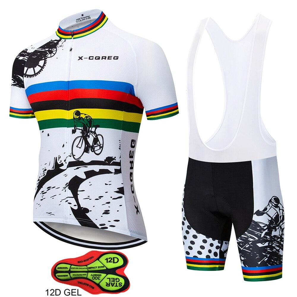 X-CQREG Men's Cycling Jerseys 2020 Hot Roupas Ropa Ciclismo Hombre MTB Maillot Cycling/Summer Road Bike Wear Clothes Cycling Set