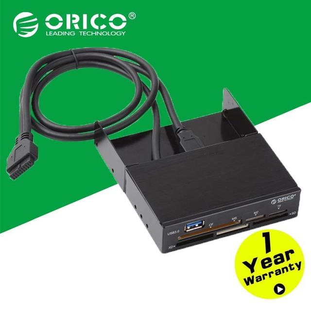 ORICO IR3501 Alumínio Interno All-in-1 Leitor de Cartão USB3.0 com 19PIN USB3.0 Cabo-Preto