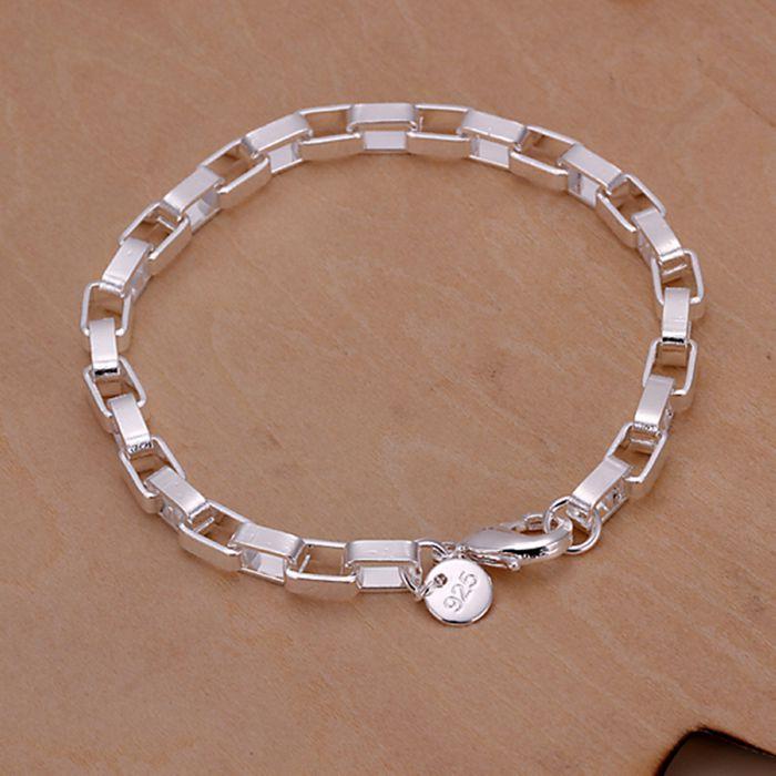 Christmas gift 2016 New 925 jewelry silver plated Fashion Jewelry Big long box bracelets&bangle,Wholesale jewelry SMTH203