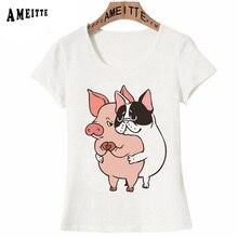 9c1f876f 2019 New Summer Women T-shirt Friend Not Food Cartoon T-Shirt Cute French