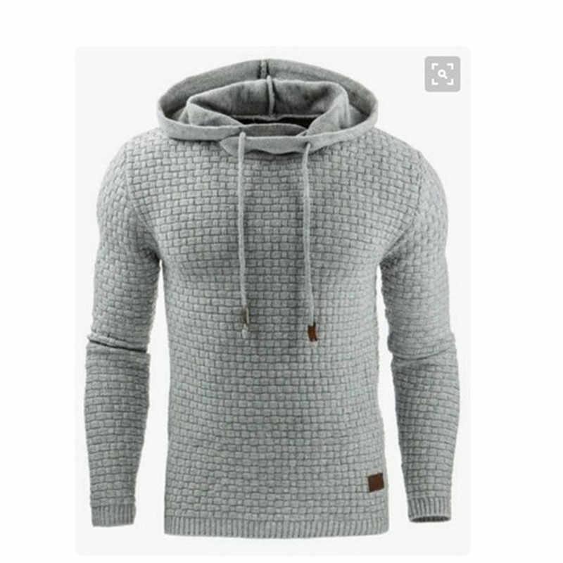 Herfst/winter 2019 mannen jacquard hoodie Casual Hip-Hop jogging lange Mouwen Hoodie warme kleur trui hoodie jas