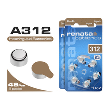 48 PCS 1.45V 165mAh Zinc Air Performance Hearing Aid Batteries A312 312A ZA312 312 PR41 Battery Drop Shipping