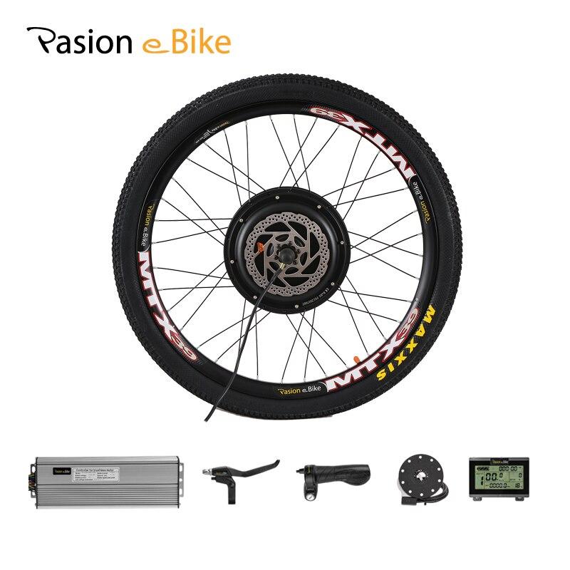 Kit de Conversion de bicyclette électrique de roue de moteur électrique de 48 V 1000 W e Kit de moteur de roue arrière de vélo 26 pouces roue de moteur de moyeu de VTT