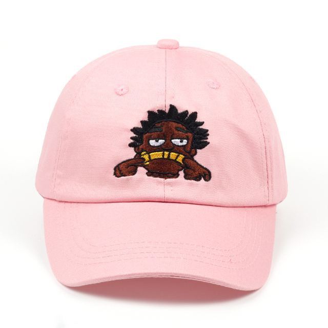9056623f48e 2018 new brand Kodak Black Hip Hop singer dad hat men women cartoon  embroidery baseball cap