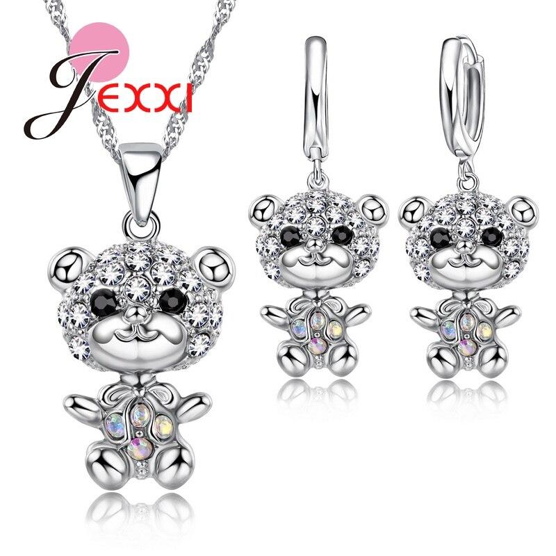 Jewelry Set Animal Bear CZ...