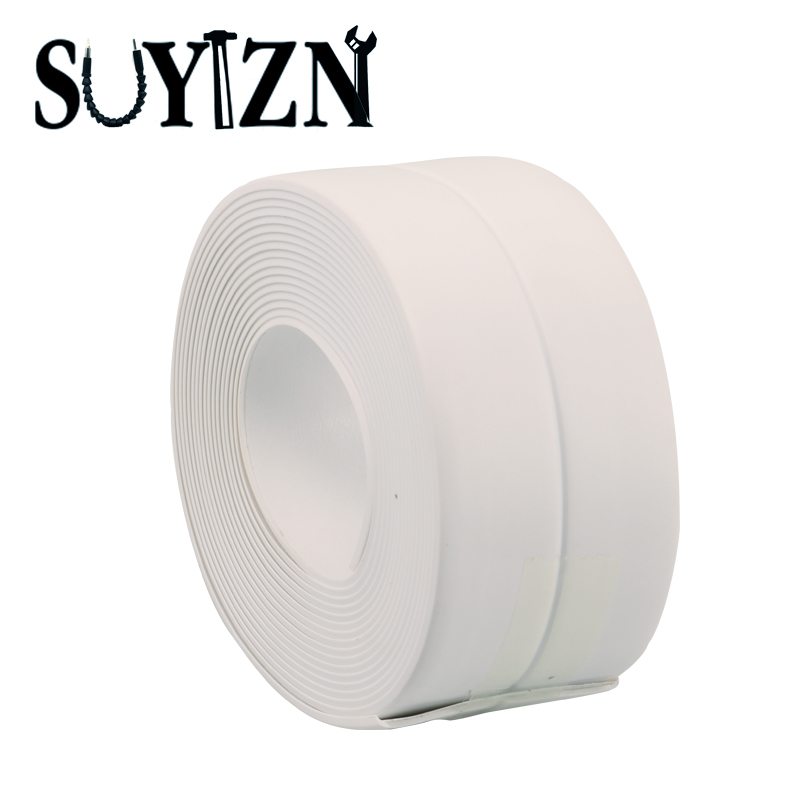 1 x Pack New Kitchen Anti - mildew Waterproof Tape Sealing Strip Gaps Multipurpose Dust Strips 3.2M Q183