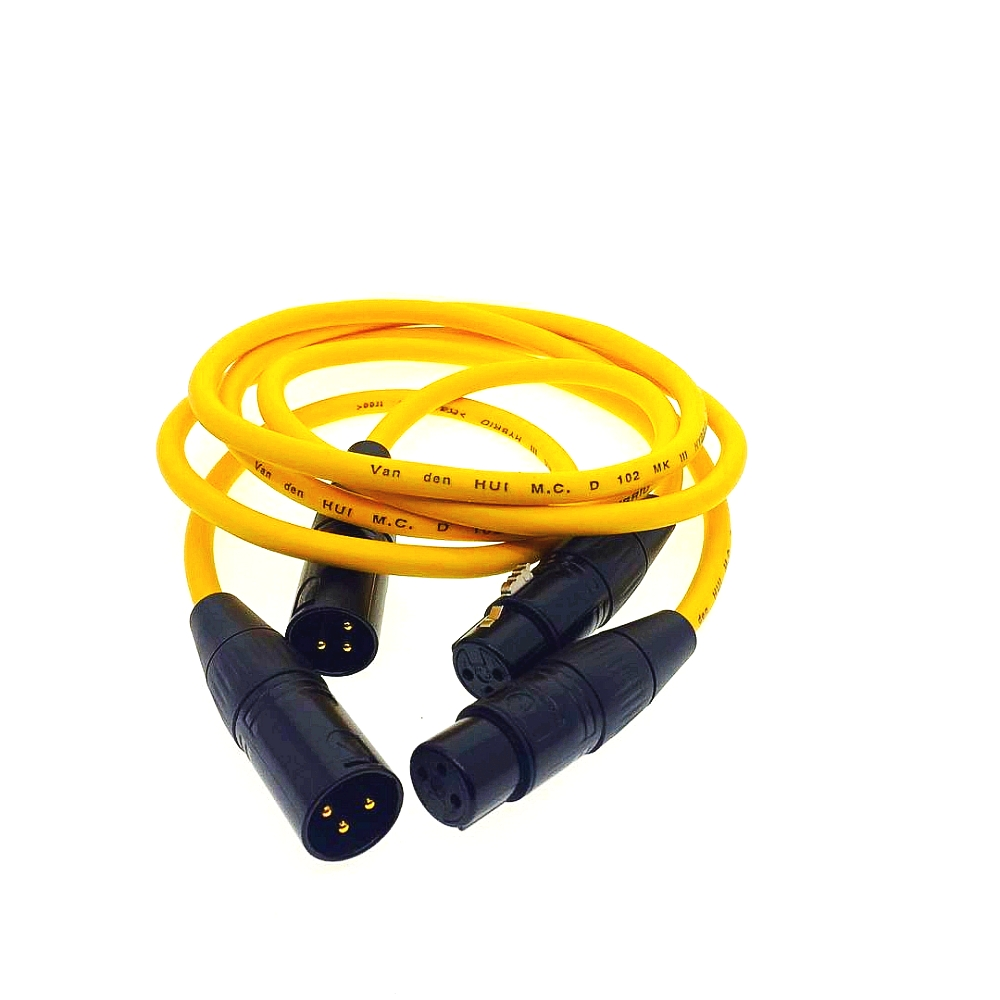 Pair Van Den Hul M C D102 MKIII Hybrid XLR Audio Cable Interconnects DIY product hifi