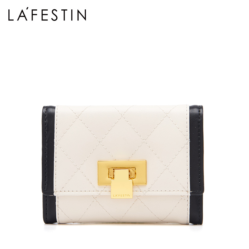 La Festin 2019 new fashion ladies leather short wallet small fragrance coin purse card wallet