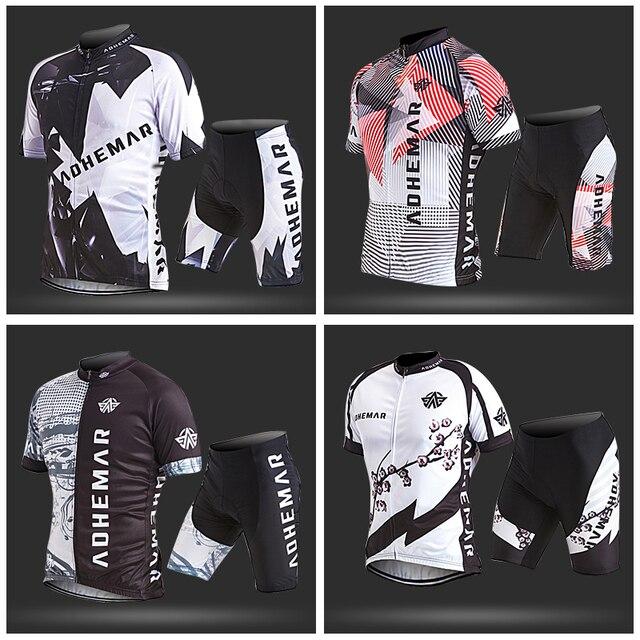 Adhemar customized cycling jersey men cycling clothing men set bike summer men cycling maillot short sleeve cycling jersey set