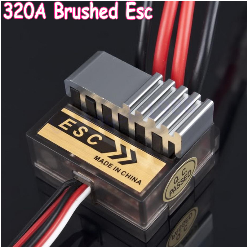 5pcs/lot 320A Brushed Speed Controller ESC for 1/8 1/10 RC Electric Car Truck Buggy Boat 10a brushed esc two way motor speed controller for 1 16 1 18 1 24 car boat tank f05427 28