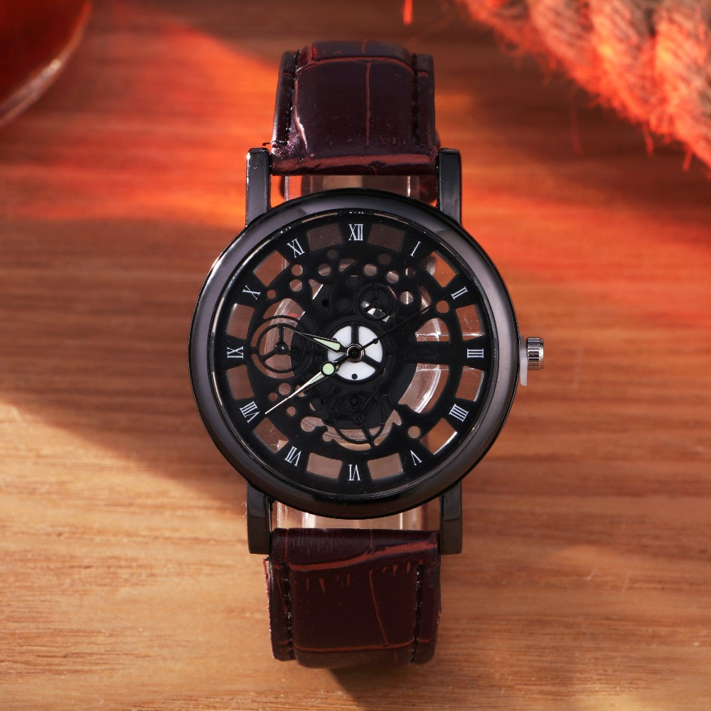 TEMPTER New Skeleton Watch Men Top Brand Luxury Famous Gold Male Clock Quartz Watch Wrist For Men Quartz-Watch relogio masculino classic simple star women watch men top famous luxury brand quartz watch leather student watches for loves relogio feminino