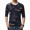 Мужчины С Длинным Рукавом Футболка Мужская повседневная 3d аниме Животных Письмо лошадь футболка homme Тонкий футболку бренд Clothing