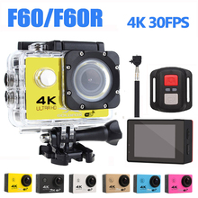 Ultra HD 4K Action Camera WiFi Camcorders 16MP 170 Go Cam Deportiva 2 inch Screen F60 F60R Waterproof Sport pro 1080P cam