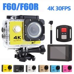 Ultra hd 4K kamera akcji WiFi kamery 16MP 170 Go Cam Deportiva 2 cal ekran F60 F60R wodoodporna kamera sportowa pro 1080P cam w Kamera sportowa od Elektronika użytkowa na