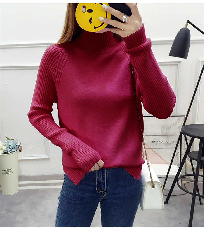 Autumn winter women sweaters and pullovers korean style casual crop sweater slim solid knitted jumpers sweter Long sleeve Knitt