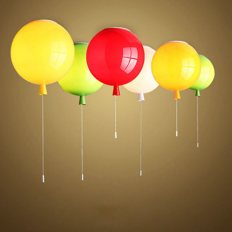 Romantic Colorful Balloon Ceiling Lights Baby Childrens Room Cozy Lamp Lustre Luminarias Minimalist Plafonnier Moderne Lamparas De Techo Lights & Lighting