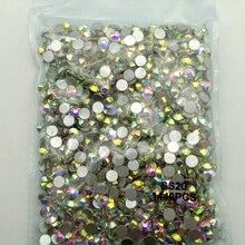 1440 шт SS3-SS30(1,3 мм-6 мм) AAA стразы Кристальные AB прозрачные не горячей фиксации плоские с оборота Стразы для ногтей 3D украшения ногтей драгоценные камни