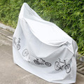 210*100cm Silk Polyester Motocycle Covers White Grey Color Cool Rain and Dust Cover Waterproof Dustproof Protective Cover