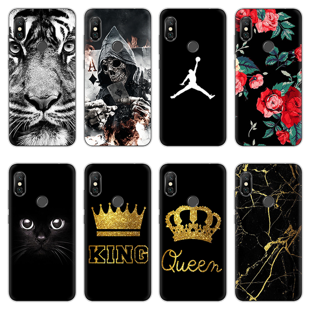 new product 55c5a 1632f US $1.18 13% OFF|Jordan Cases For Xiaomi Redmi Note 6 Pro Case Silicone  Transparent King Queen Soft Back Phone Case For Redmi Note 6 Pro Cover-in  ...
